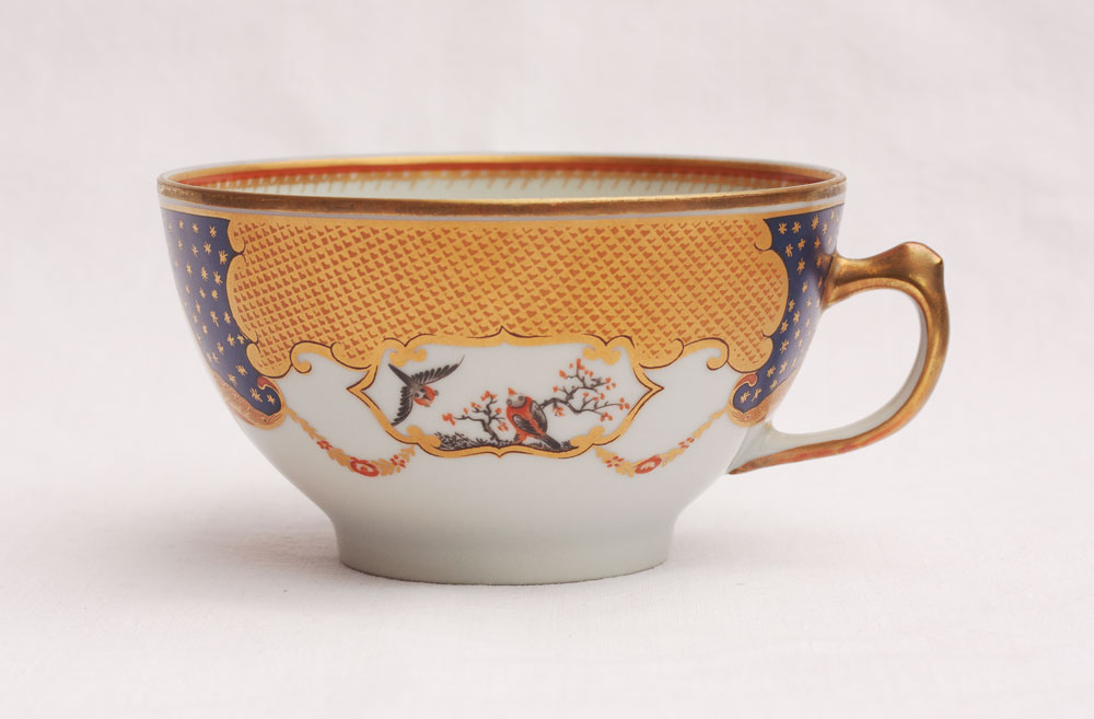 mottahedeh vista alegre golden butterfly tasse untertasse cup saucer set ebay. Black Bedroom Furniture Sets. Home Design Ideas